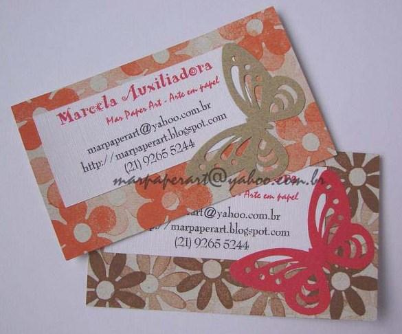 Amado Mar Paper Art Arte em Papel: Cartão de visita artesanal IY57