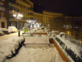 Frosinone sotto la neve prima di natale