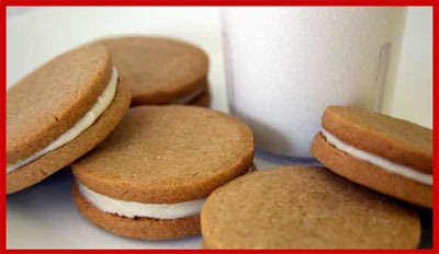 Tasty caramel creme sandwich cookies from The Treats Truck!