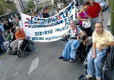 Adredistas del CAMF de Leganés en I Marcha por la visibilidad de la diversidad funcional
