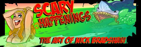 Scary Happenings - The Art of Nick Bradshaw
