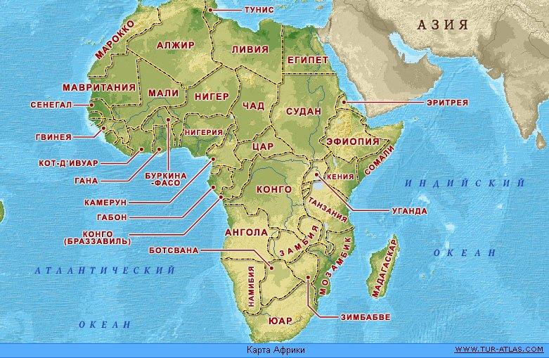 Африки расположены 55 государства 4
