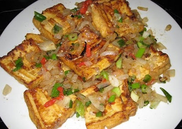 Vietnamese Vegan Cuisine: Five-Seasoning Fried Tofu (Đậu Hủ ...