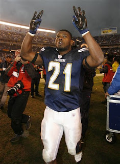 LaDainian Tomlinson leaving the field after the Playoff Victory