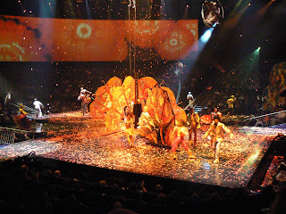Finale of the LOVE Cirque du Soleil show