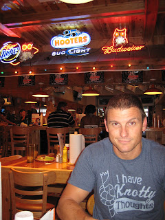 The Birthday Boy, Chad, at Hooters Casino.