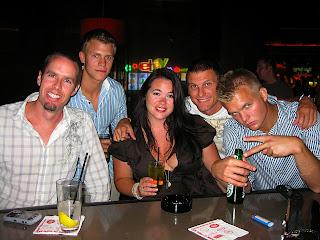 Noah, Magnus, Bobbi, Chad & Andreas at Centrifuge Bar our last night in Vegas.