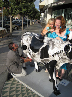 Milking the cow outside of Jack's in La Jolla.
