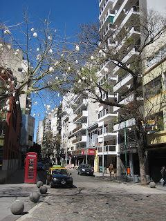 A street outside the cemetery in Recoleta.
