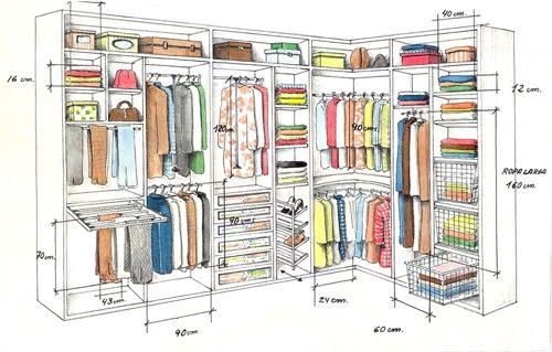 Closets y vestidores - Distribuciones de armarios empotrados ...