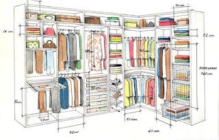 Closets y vestidores for Medidas de zapateras