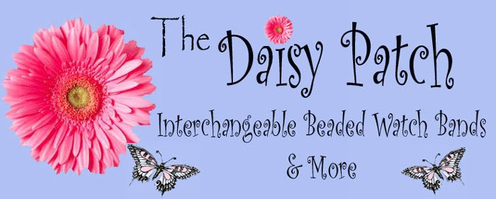 The Daisy Patch -  Interchangeable beaded watches