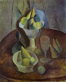 Compotier, fruit and glass - Pablo Picasso
