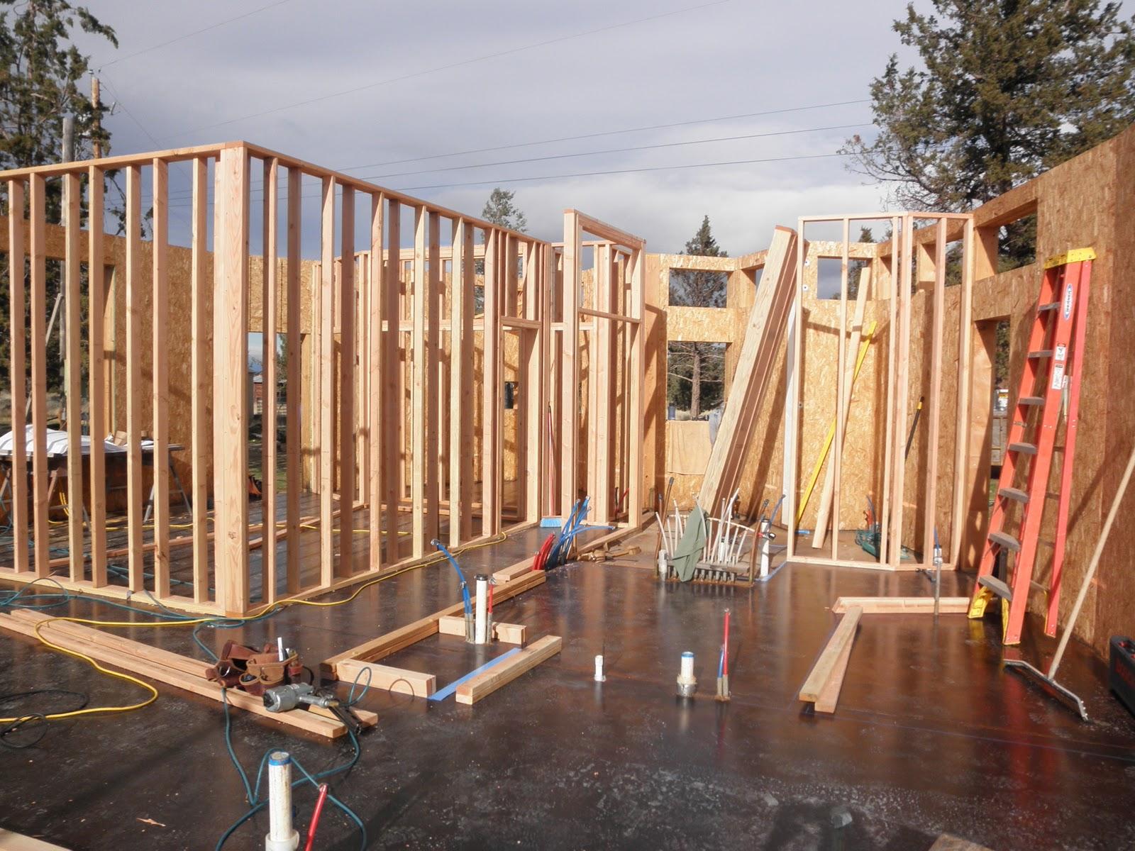 2x6 Wall Framing Construction : Roundup ranch nov framed double block walls