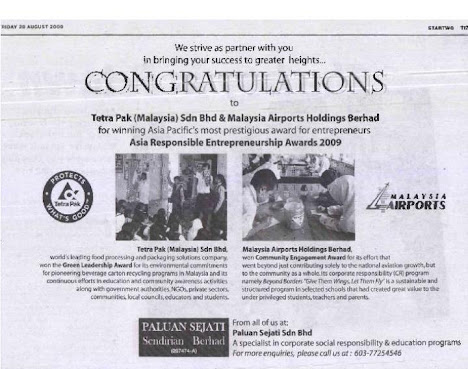 Award Winning Corporate Social Responsibility Programs...