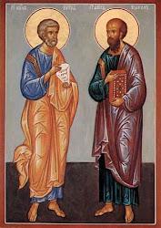 apostołowie Piotr i Paweł