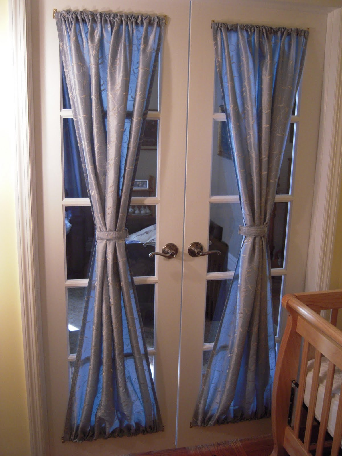 Charing x curtains for french doors some new ideas - Curtain for kitchen door ...