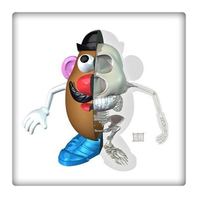 Anatomía Mr. Potato Toy Story : Blog de Lujo