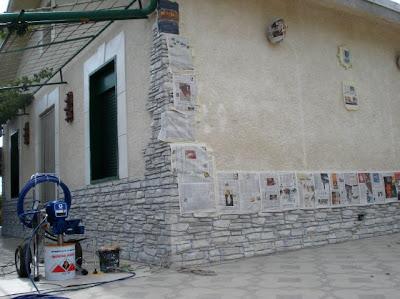 Claudio caruso decorazioni prospetto ad intonaco stampato - Tipi di finitura intonaco esterno ...