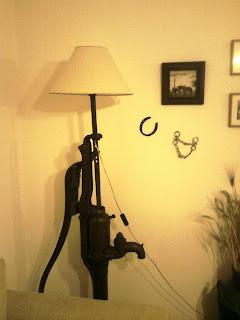 Espejos y lamparas l mpara de pie artesanal for Lamparas para espejos
