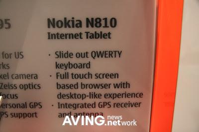 N810 Internet Table