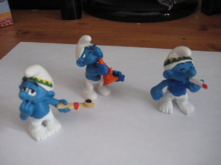 Smurfs Smoking Weed Where 3 smurfs look like