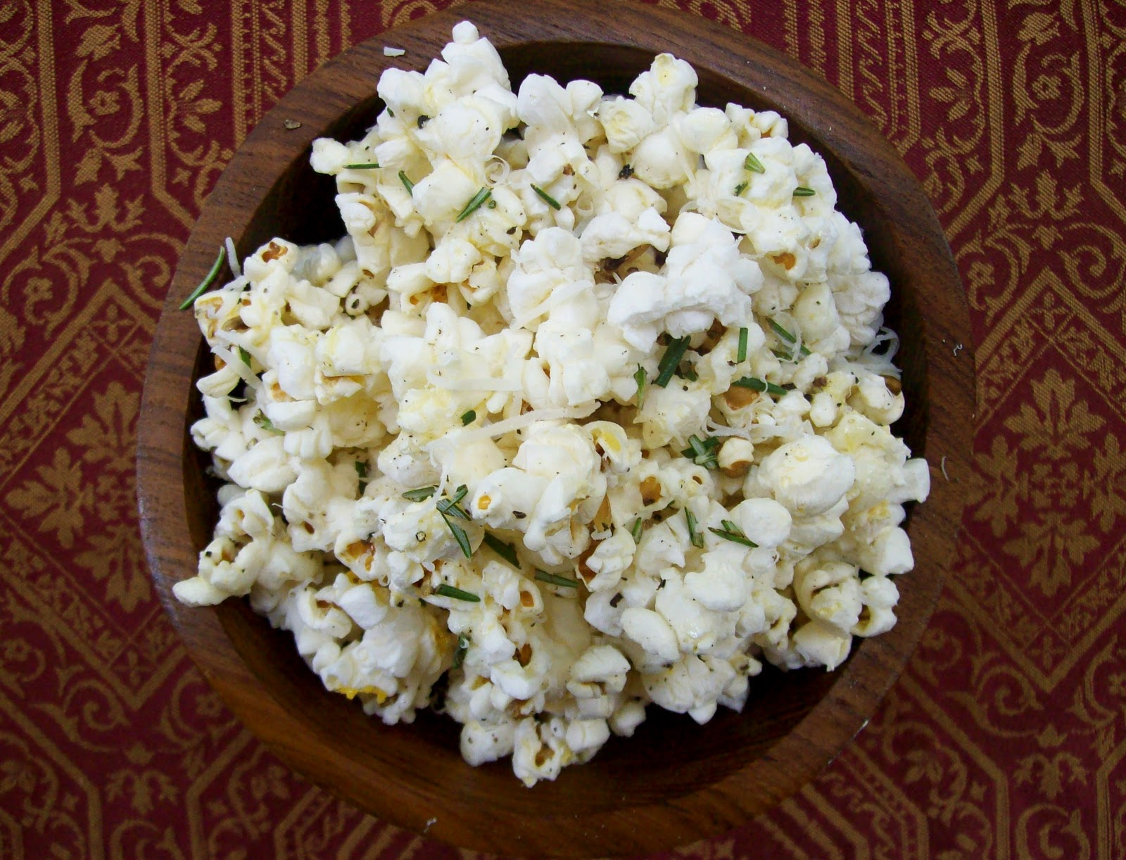 NudeFood: Truffled Popcorn with Rosemary and Parmesan