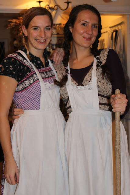 Waitresses 'Mary' and 'Laura' at my Little House on the Prairie supper club