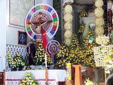 Feria Altarpiece with indigenous symbols