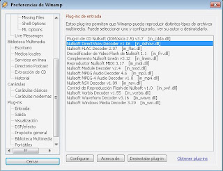 Nullsoft Directshow Decoder Plugin