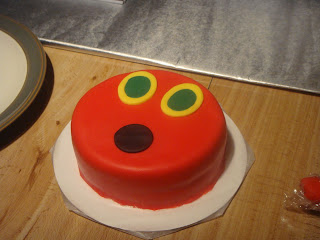 Very Hungry Caterpillar cake head closeup