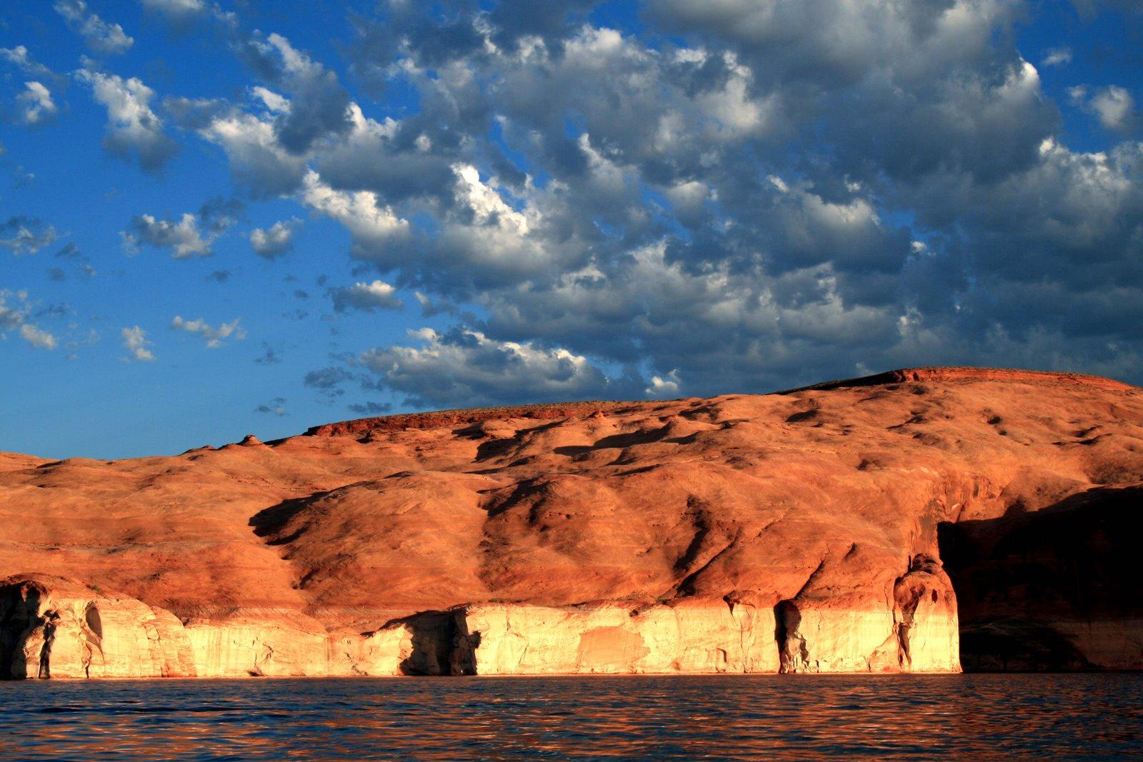 [Lake+P.+Sunset+on+rocks]