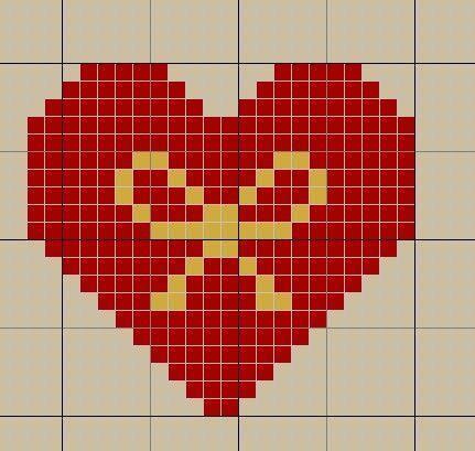 Вышивка крестом сердечко картинки