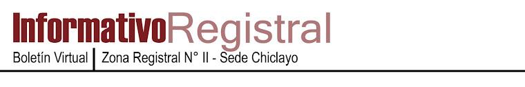 INFORMATIVO REGISTRAL