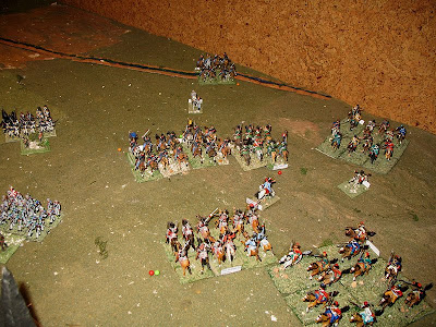 Cossacks preventing the fall back of enemy cavalry