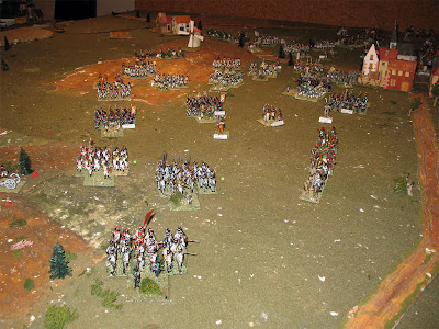 French left flank retiring from the battlefield