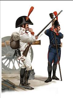 Spanish infantryman and artilleryman