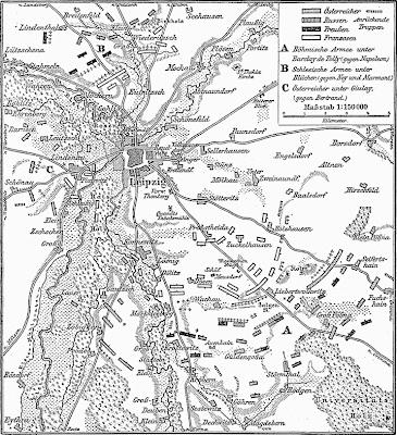 Karte_Voelkerschlacht Leipzig 16 October 1813
