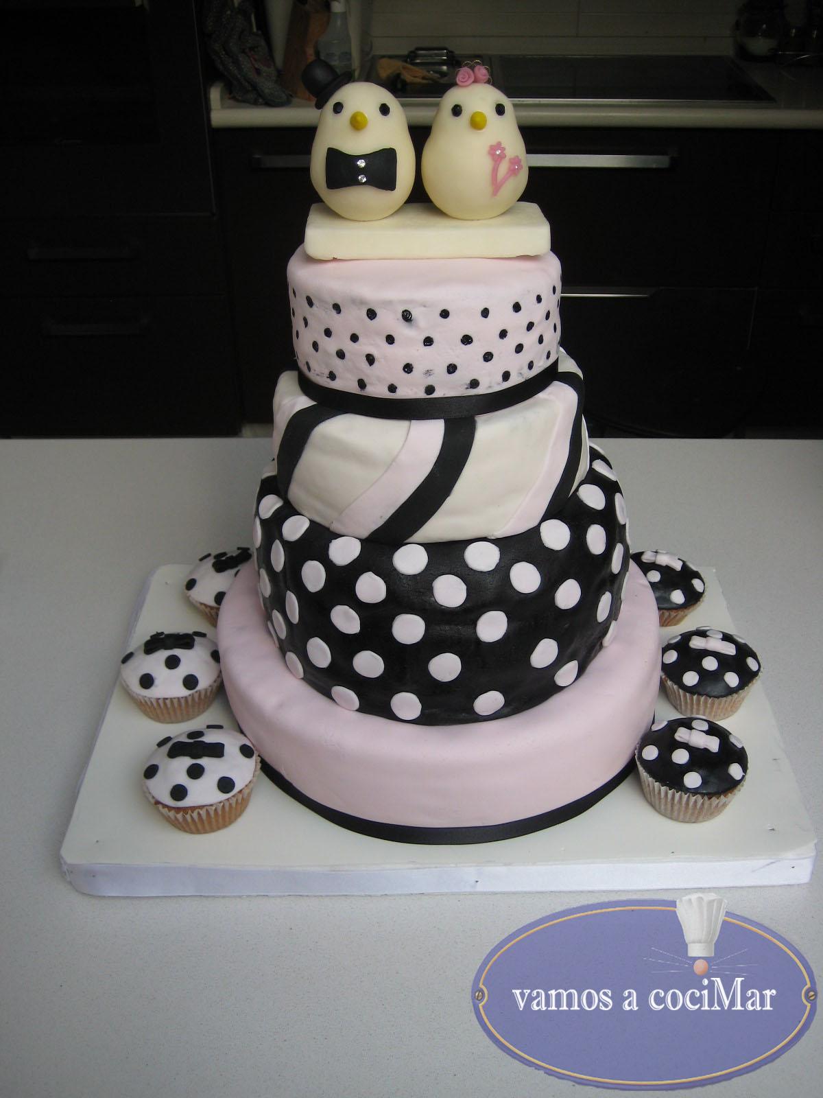 tarta fondant para una boda muy original