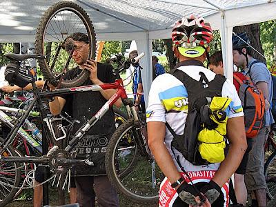 Bike Park - przegląd rowerów na zakończenie rajdu