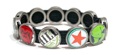 Bottle Cap Bracelet by Lani Mathis and Michael Ayers of GreenSpaceGoods