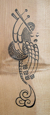 The Lady and the Dragon drawing by Lani Mathis of GreenSpaceGoods