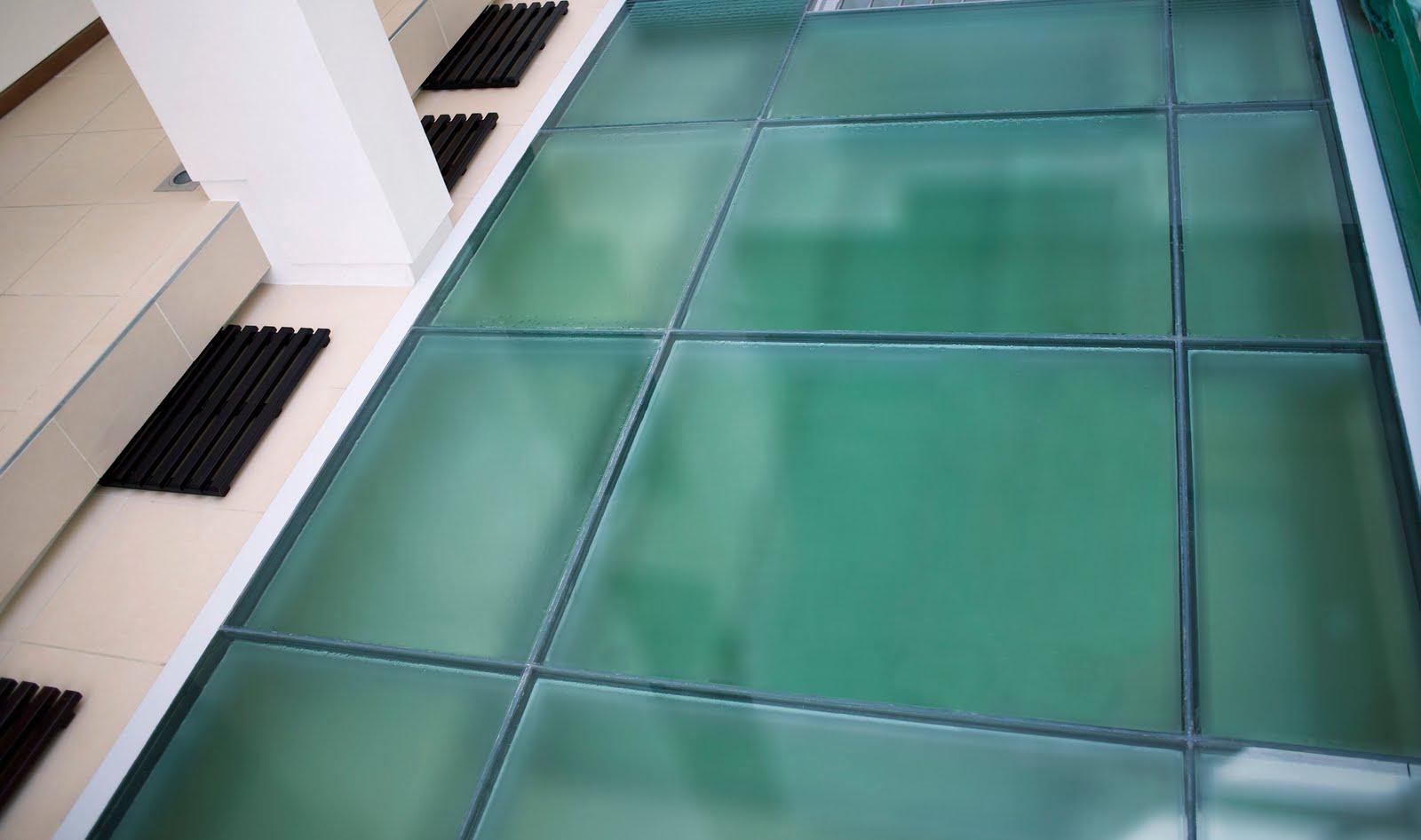 glass floor. Black Bedroom Furniture Sets. Home Design Ideas