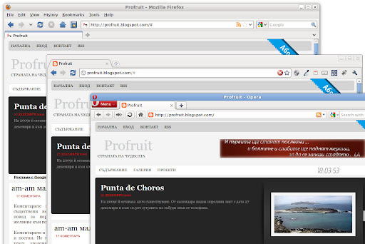 Firefox - Chrome - Opera