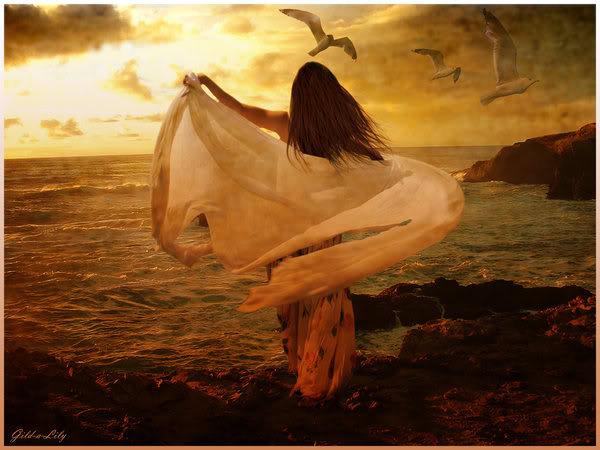 Tuas vestes de paz Me fazem valente Me sinto capaz De vencer a morte Cruzar os mares Dobrar o tempo Eternizar a vida