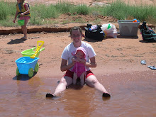 Hailey loved playing in the water