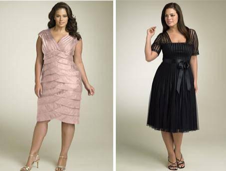 vestidos de festa para gordas. No vestido, tente usar um de