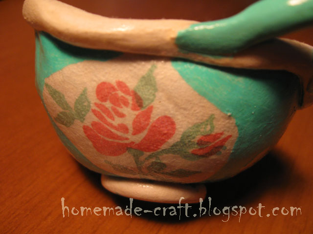 Clay Flower Pot Holder and Candle
