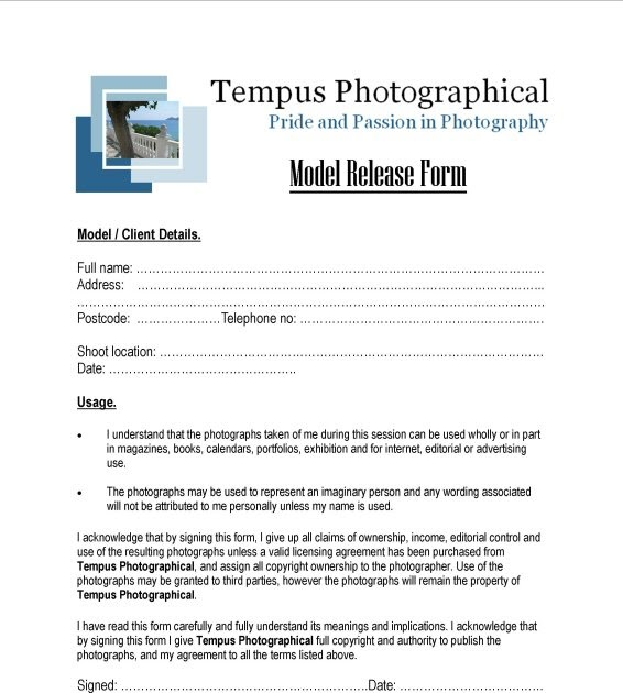 Gillian Mooney: Trust Your Models( Model Release Forms)