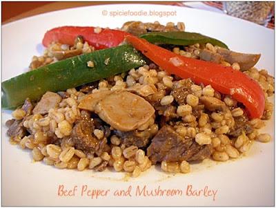 beef pepper mushroom barley